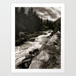Landscape II, Icicle Creek, Leavenworth, Washington Art Print