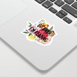 Go Away I'm Reading Floral Design Sticker