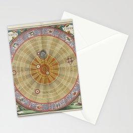 Keller's Harmonia Macrocosmica - Planisphere of Copernicus 1661 Stationery Cards