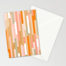 Retro linear Peachy Pattern Stationery Cards