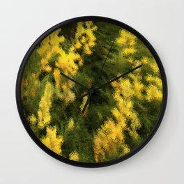 Yellow  Rain Wall Clock