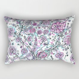 Purple and blue tree and flowers Rectangular Pillow
