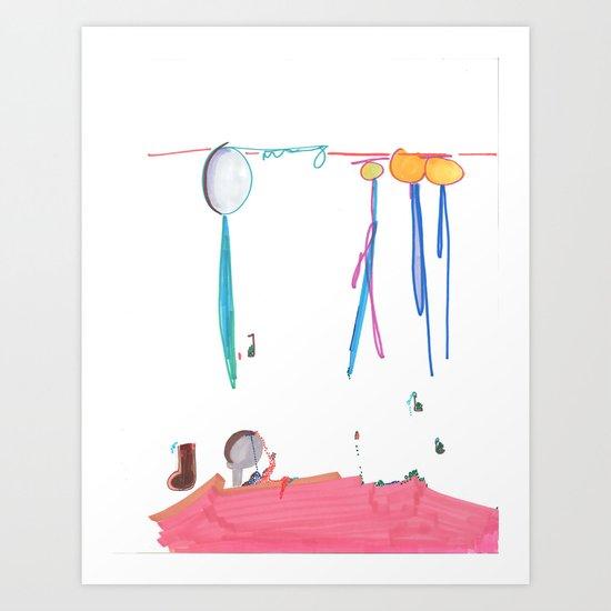 Balloon Voyage Art Print