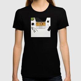 Waffle Laptop Computer Flat Lay T-shirt