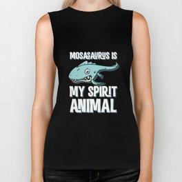 Mosasaurus Is My Spirit Animal T-Shirt Cute Jurassic Tee Biker Tank