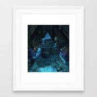 bill cipher Framed Art Prints featuring bill cipher by andy leigh