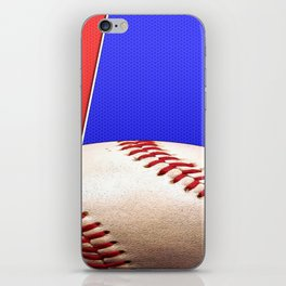 Baseball Sports on Blue and Red iPhone Skin