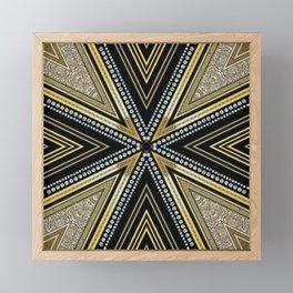 Glam Cross Star Framed Mini Art Print
