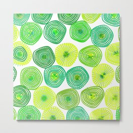 Lemon-Lime Lift Metal Print