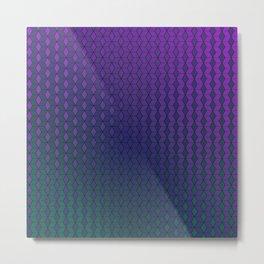 Gradient cube pattern cold Metal Print