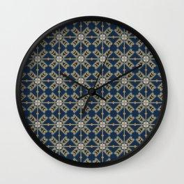 Luxury Spanish Tile - Pattern Wall Clock