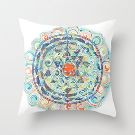 Samaya Sri Yantra Throw Pillow