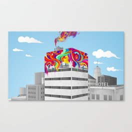 Color workers Canvas Print