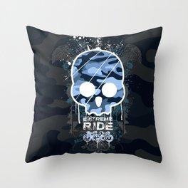 Extreme ride Throw Pillow