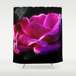 Electric Pink Rose Shower Curtain