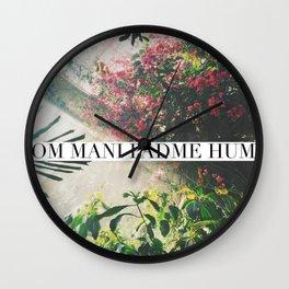Om Mani Padme Hum Wall Clock