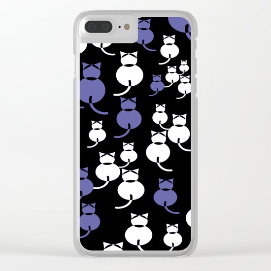 Fat Cats 2 Clear iPhone Case