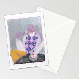 cronut girl Stationery Cards