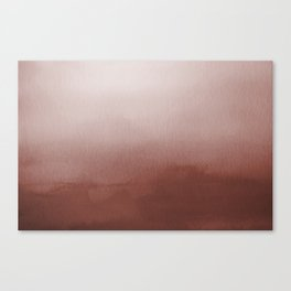 Dunn Edwards Spice of Life DET439 Abstract Watercolor Ombre Blend - Gradient Canvas Print