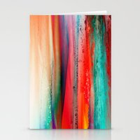 ice Stationery Cards featuring Ice Curtain by Klara Acel