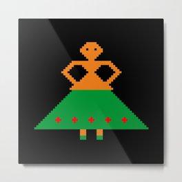 Woman with skirt Metal Print