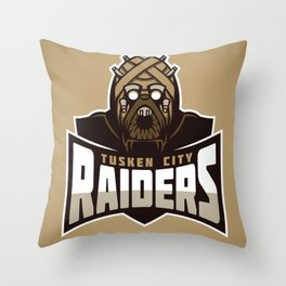 Tusken City Raiders - Tan Throw Pillow