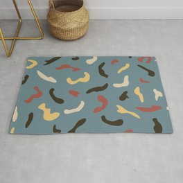 Abstract Creative Ribbons Confetti Colorful Pattern Rug