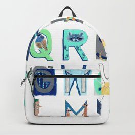 Alphabet Letter Decor Design Art Pattern Backpack