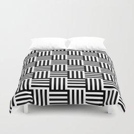 Black And White Basket Weave Duvet Cover