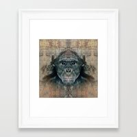 monkey Framed Art Prints featuring Monkey by Zandonai