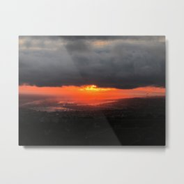 Fiery Clouds Metal Print