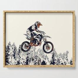 """High Flyer"" Motocross Racer Serving Tray"