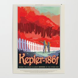 Kepler-186 : NASA Retro Solar System Travel Posters Poster