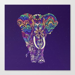 Not a circus elephant #violet by #Bizzartino Canvas Print