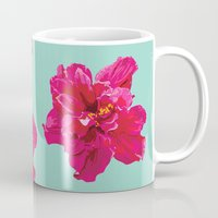 hibiscus Mugs featuring Hibiscus by Jen Montgomery