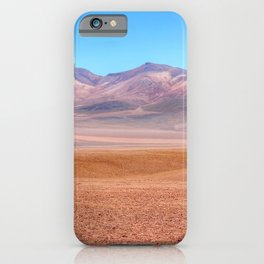 Desert and mountains in Bolivia iPhone Case