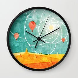 Bagan at sunrise Wall Clock