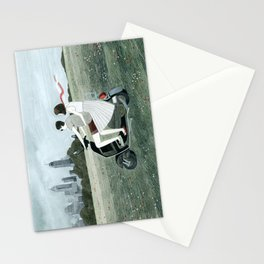 Couple On Scooter Stationery Cards
