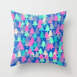 Colorful fir pattern II Throw Pillow