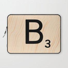Scrabble Letter B - Large Scrabble Tiles Laptop Sleeve