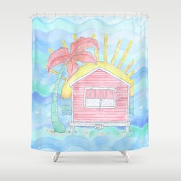 Beach Shack Vibes Shower Curtain