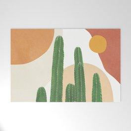 Abstract Cactus I Welcome Mat