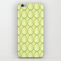 avocado iPhone & iPod Skins featuring avocado by Panic Junkie