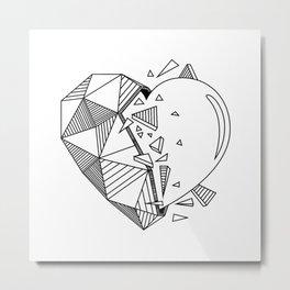 Geometrical Heart Metal Print
