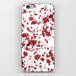 Blood Spatter iPhone Skin