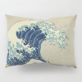 Great Wave Off Kanagawa (Kanagawa oki nami-ura or 神奈川沖浪裏) Pillow Sham