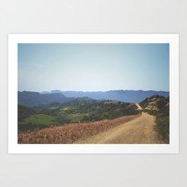 Topanga State Park Trail Art Print