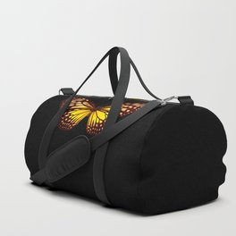 Butterfly - Yellow Brown & Black - Back Lit Glow Duffle Bag