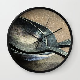 Tarnished Spoons Wall Clock