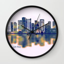 La Paz Skyline Wall Clock